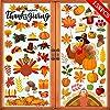 Joy Bang 158枚 感謝祭 窓 ステッカー 秋の窓 デカール 七面鳥 窓 ステッカー ホーム オフィス 感謝祭 パーティー 装飾用品