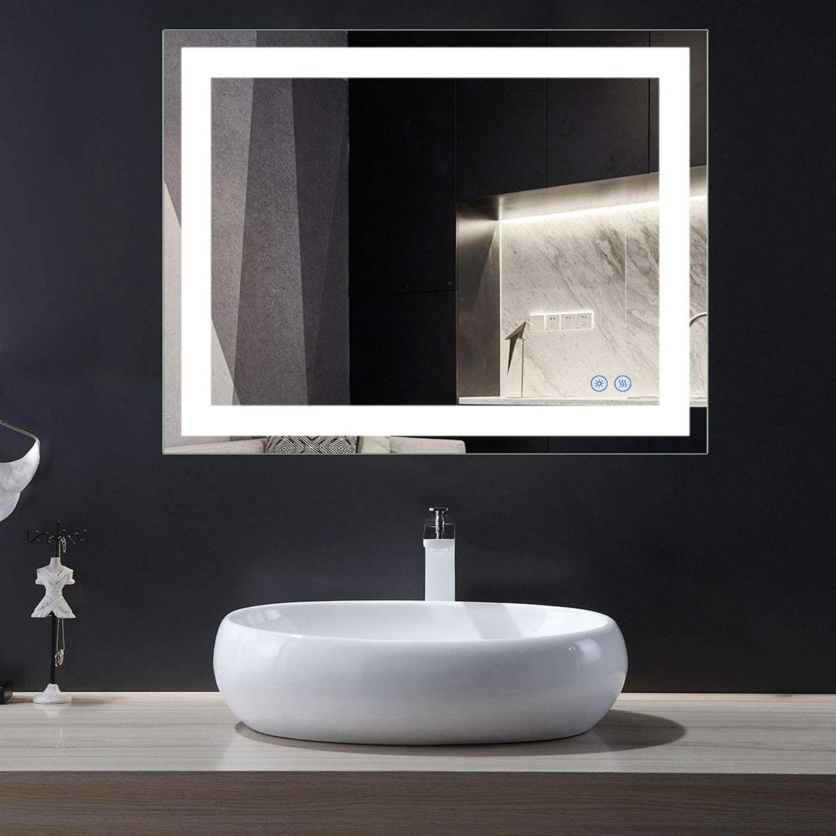 Eco-Friendly Lighted Sale special price Bathroom Vanity Rectangle Mirror Wall Illu New product type