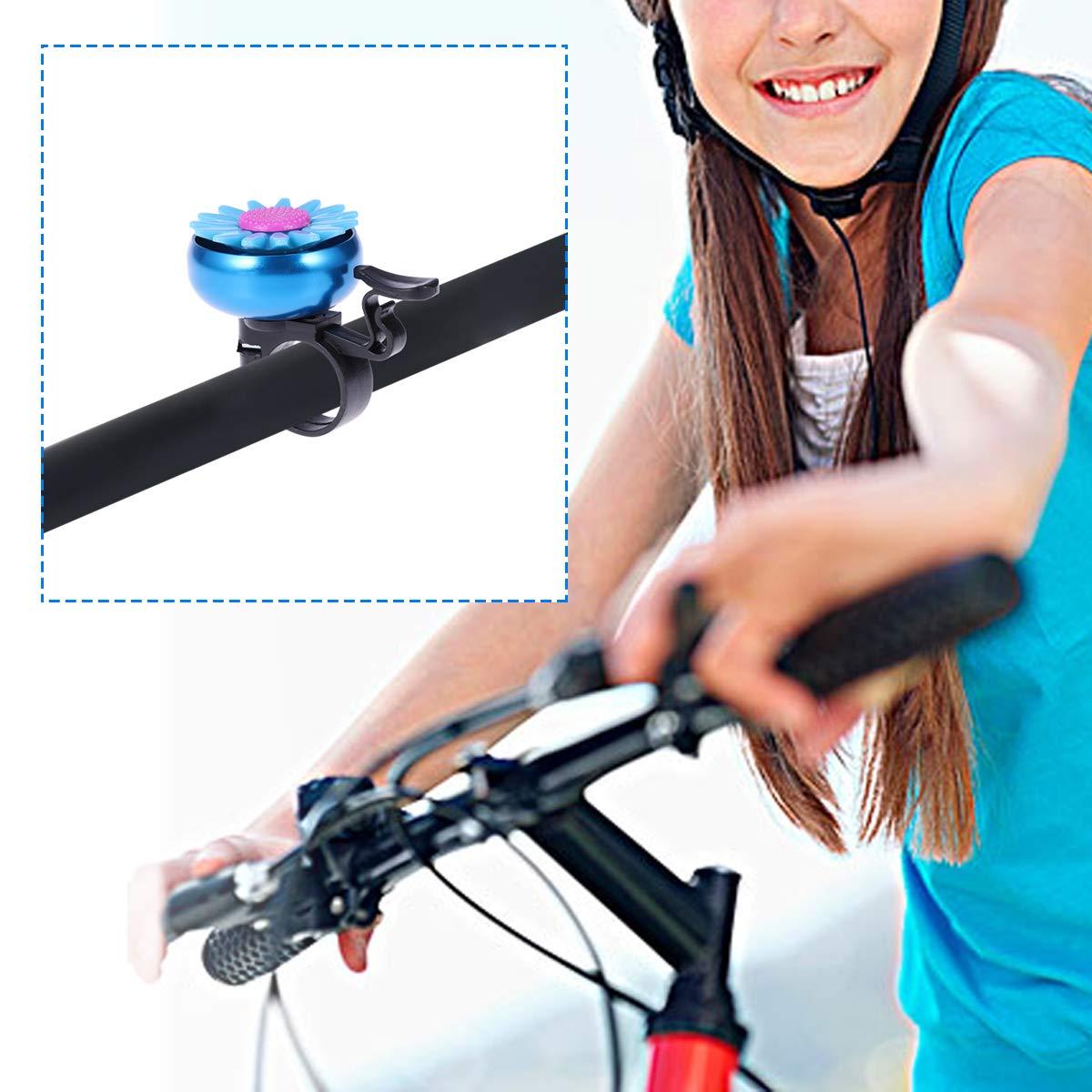 LIOOBO Timbre de Bicicleta con Forma de Girasol Timbre en Forma de ...