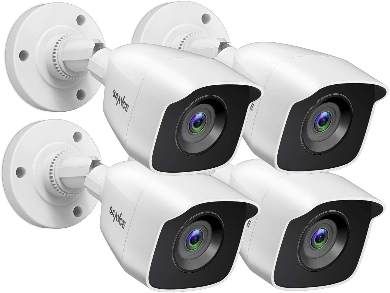 SANNCE 1080P 4Pack Wired Home Security Camera with 100ft EXIR Night Vision, IP66 Waterproof Outdoor Indoor Cam for SANNCE CCTV DVR or Other TVI DVR Systems