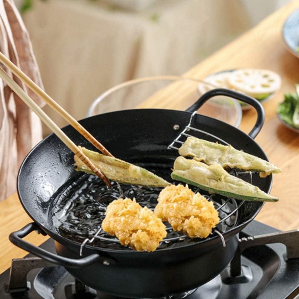 MinLia Non Stick Special price for a limited time Coating Tempura Stainl Deep Fryer Fresno Mall Pot