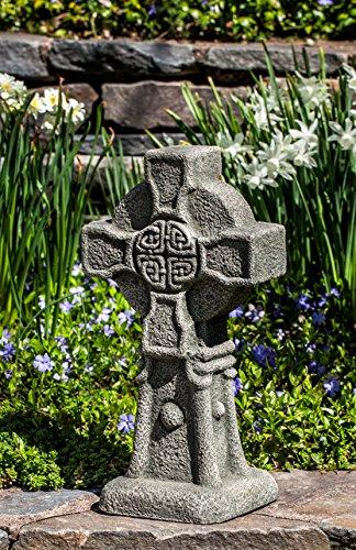 Campania International S-474-AS Celtic Cross Statue, Alpine Stone Finish