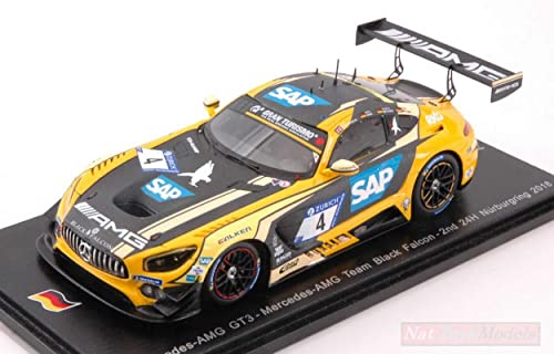 Tu satisfacción es nuestro objetivo Spark Model SG401 Mercedes GT3 GT3 GT3 N.4 Nurburgring 2018 Engel-Metzger-Muller 1 43 Compatible con  venta con alto descuento