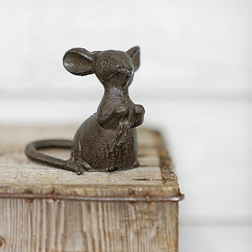 Cast Iron Decorative Mouse Ornament (Paws Apart)