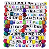 kandi bar EDM Life Rave Bracelets (12-Pack) | handmade PLUR accessory for music festival outfits | wear stylish colors & authentic phrases for Women, Men, & NB | every pack is unique | EXPLICIT