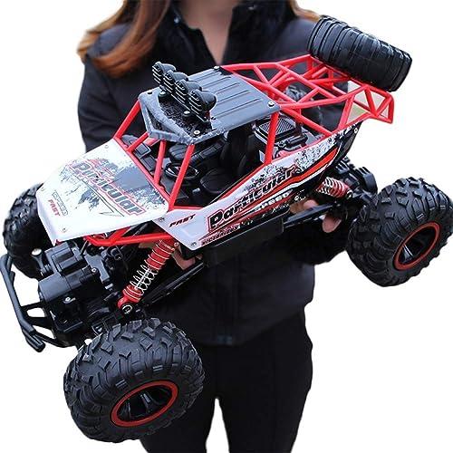 QINWURUI Ferngesteuertes fürzeug RC Autos 1 12 Skala 4WD 2.4 GHz Wasserdicht Monstertruck Gel ewagen - Geschenk für Kinder,rot