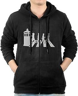 Mens Doctor Who Tardis Men's Slim Fit Zip-up Hoodies Fleece Sweatshirts Jacket