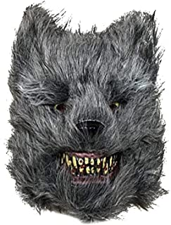 Halloween Wild Wolf Mask, Vampire Latex Animal Head Scary Mask for Halloween Costume Party Cosplay Decorations Props