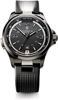 Victorinox Swiss Army - Night Vision 241596 - Reloj analógico de Cuarzo para Hombre, Correa de Goma Color Negro (Agujas luminiscentes)