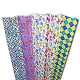 Haioo Papel de Regalo 6 Rollos de Papel para Envolver de Navidad, Cumpleaños y Fiestas 1 Set de 6 Rollos - 70 cm X 2 m por Rollo (Multicolor 5)