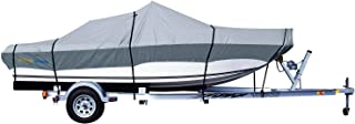 PrimeShield Boat Cover, Waterproof 600D Anti-Fading Yarn-Dyed Oxford Trailerable Runabout Boat Covers, 14/15/16/17/18/19/20/21/22 ft fits V-Hull Tri-Hull Pro-Style Bass Boats with Tightening Strap