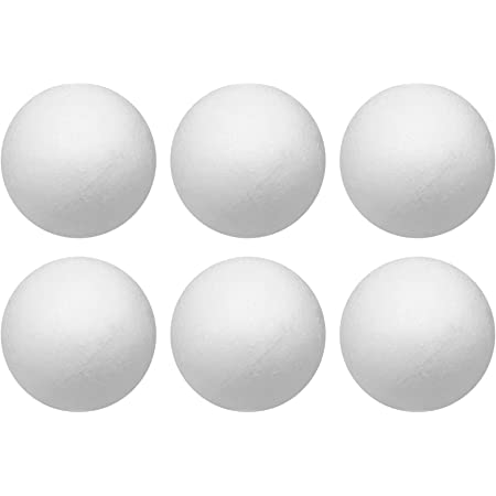 KESYOO 100pcs Assorted Craft Styrofoam Balls White Polystyrene Foam Balls Smooth Round Foam Balls for Modeling Arts and DIY Crafts Projects