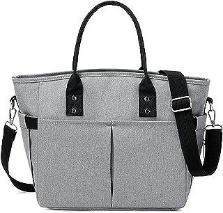 Kühltasche Lunch Tasche mit Schultergurt Isoliertasche zur Arbeit Schule Faltbar Wasserdicht Reißverschluss Cooler Bag Küh...