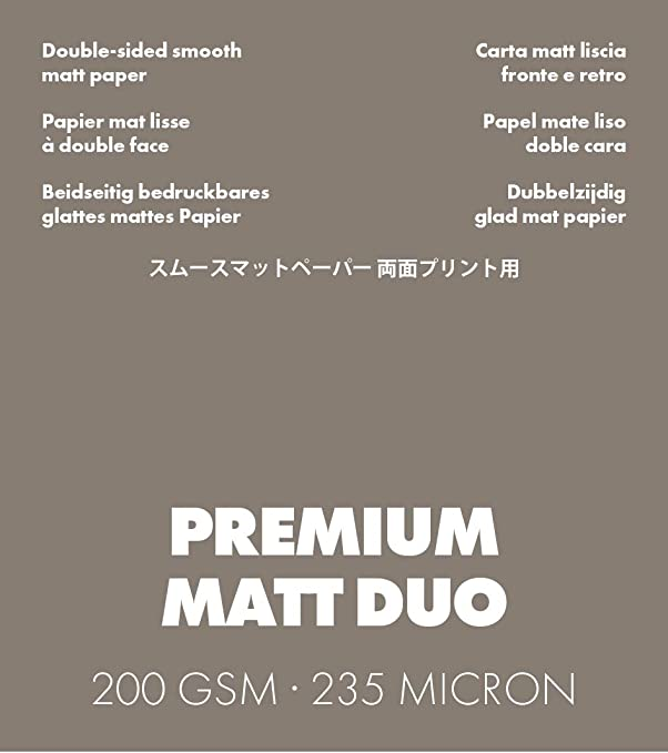 ILFORD GALERIE Premium Matt Duo 200 gsm A3+ 50 fogli 329 mm x 483 mm
