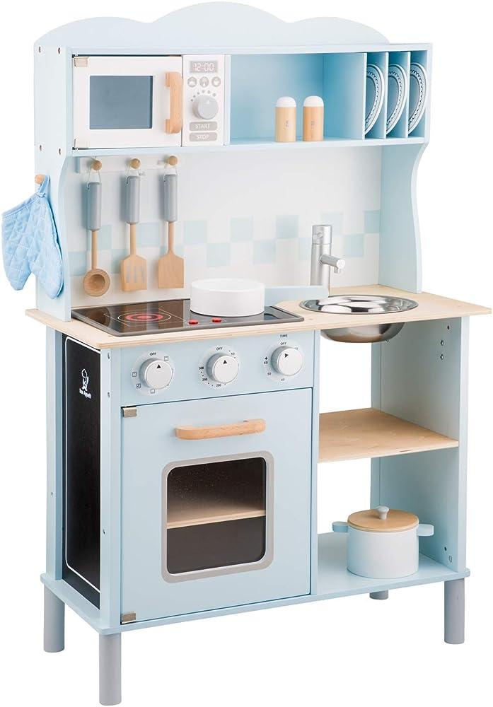 new classic toys kitchenette-modern-electric cooking,cucina per bambini accessioriata,in legno 11065