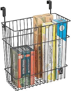 mDesign panier de rangement pour accessoires de cuisine et salle de bain – peut être utilisé comme poubelle d'appoint – pa...