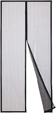 Sekey Zanzariera Magnetica per porta, anti insetti, per legno, ferro, porte in alluminio e balcone, Facile da installare, si Chiude da Sola, 210 x 90 cm, nero