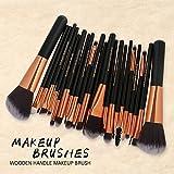 OPAKY - Juego de brochas de maquillaje para base de maquillaje en polvo, sombra de ojos, delineador de ojos, delineador de ojos, pincel cosmético de labios