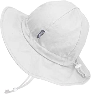 JAN & JUL Girls Wide Brim UV Protection Cotton Sun-Hat, Adjustable Strap, for Baby, Toddler, Kids