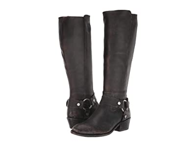 Frye Carson Harness Tall (Black Extended) Women