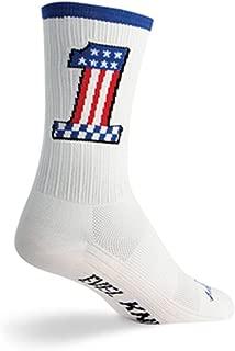 SockGuy SGX 6in Evel 1 Performance Cycling/Running Socks