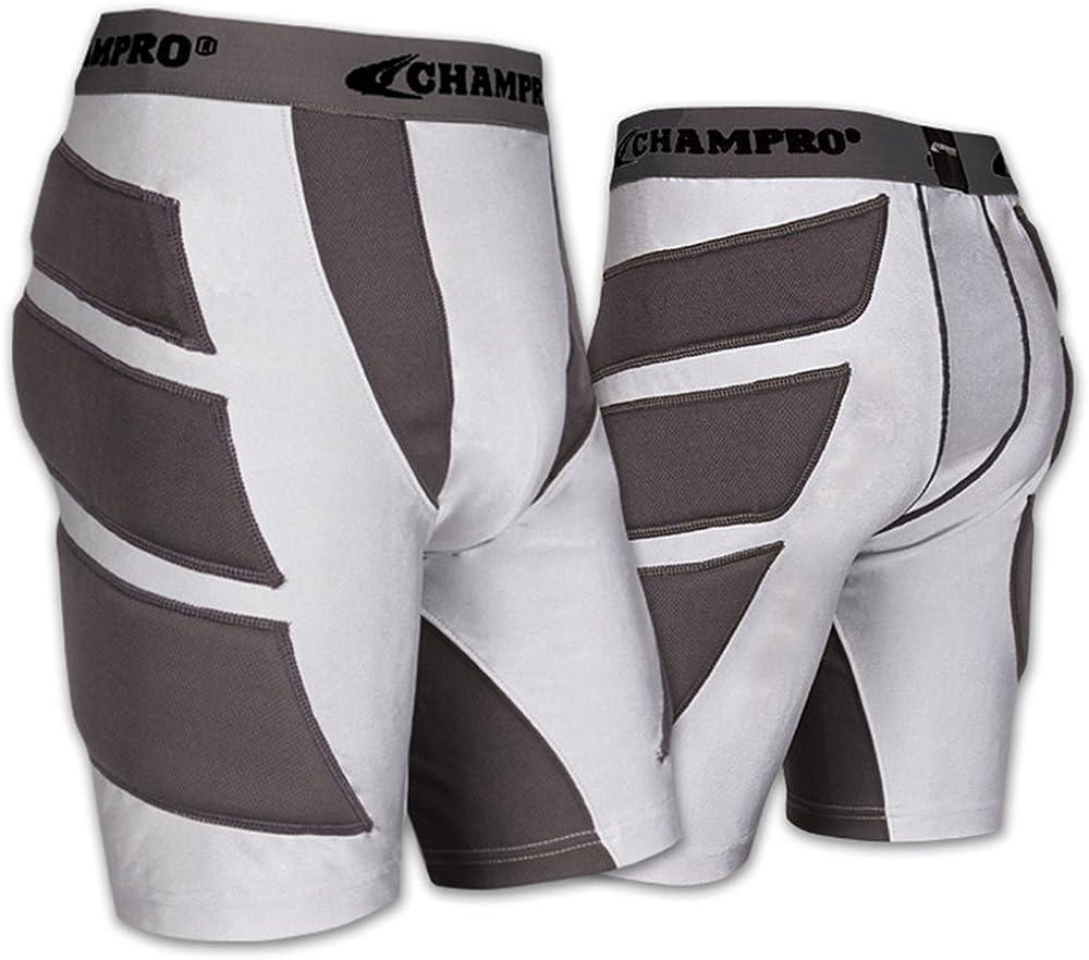 Medium White Champro Wind-Up Men/'s Baseball//Softball Padded Sliding Short