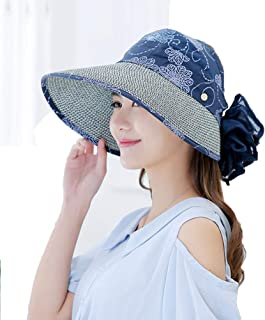 Women's Sun Hats Large Brim 360°UV Protection Hat, Foldable Sun Visor Caps with Removable Sun Shield and Neck Cover Summer Beach Cap for Outdoor Fishing Hiking Camping Boating