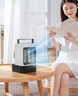 Acondicionador de aire portátil ventilador enfriador aire, Escritorio Personal Ventilador Mini Space refrigerador evaporativo Ventilador mesa Ventilador USB recargable for sitio Ministerio Interior