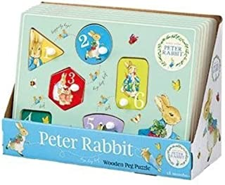 peter rabbit wooden peg puzzle