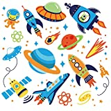 Outer Space Kids Room/Nursery Peel and Stick Wall Sticker Decals