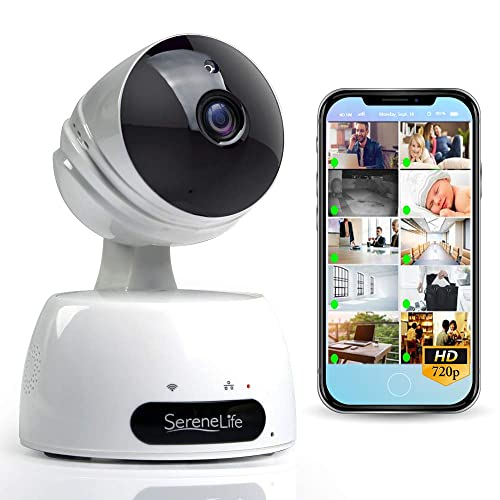 Indoor Wireless IP Camera - HD 7200p Network Security Surveillance Home Monitoring Featuring Motion Detection,