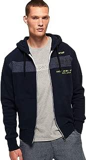 Superdry Men's Sweat Shirt Shop Magma Panel Zip Hoodie, Blue