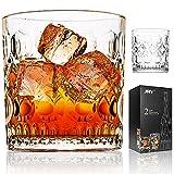 JRY Whisky Gläser 350ml 2er Set Kristall Kurz Tischglas für Cocktail,Non-Leaded Clarity Whiskyglas,Perfekt für Zuhause, Restaurants und Partys