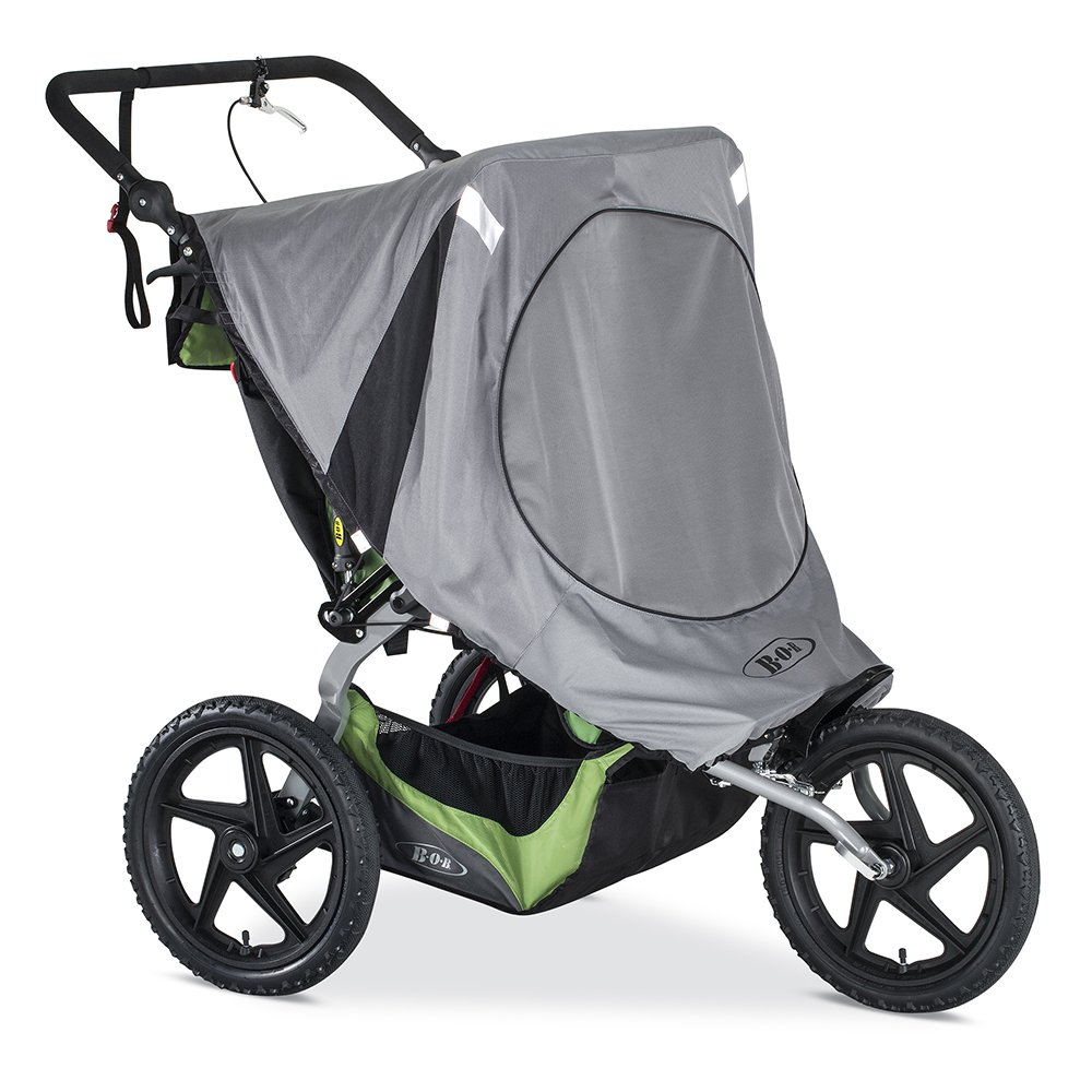 BOB Sun Shield for Duallie Fixed Wheel Strollers, Grey