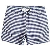 MaaMgic pantalocini da Bagno per bambimi Ragazzi Asciugatura Rapida Costume da Mare Spiaggia Piscina Slip Interno, Viola Blu, 10-12 Anni