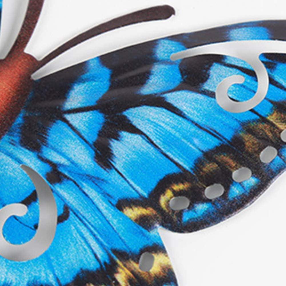 In Ferro Battuto Bagno E Giardino Decorazioni Da Parete Adatte Per Camera Da Letto Flox Soggiorno Set Di 4 Sculture Da Parete A Forma Di Farfalla A Forma Di Farfalla Casa E