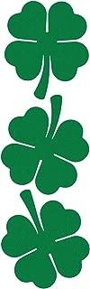 LiteMark Reflective Green 2 Inch Four Leaf Clover Shamrock Sticker for Cell Phone, Hard Hat, Helmet, Tool Box, Laptop, Mailbox - Pack of 3
