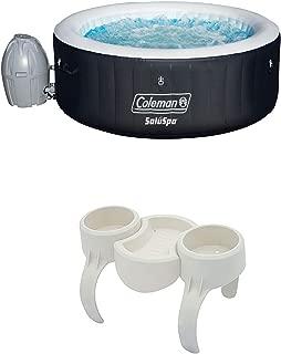 Coleman SaluSpa 4 Person Inflatable Hot Tub + Bestway SaluSpa Drink/Snack Holder