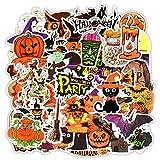 Egero Lot de 50 Autocollants de Décoration Halloween Scrapbooking Loisir Créatifs ou pour Portables, Ordinateur, Skateboard, Trottinette, Valise, Classeur.Parfaite Adhérence et Résistants a la Pluie.