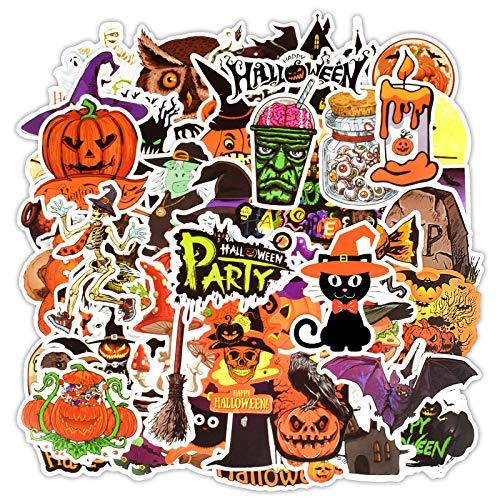 Lote de 50 Pegatinas Decorativas de Egero Halloween Scrapbooking Ocio Creativo o...