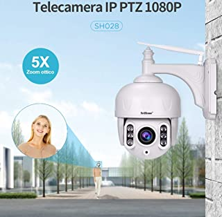 Nuevo Modelo SH028 cámara PTZ Zoom óptica 5 x WiFi Ap Hotspot inalámbrica Infrarrojos 3.0 megapíxeles HD IR Cut ONVIF P2P Ranura Micro SD