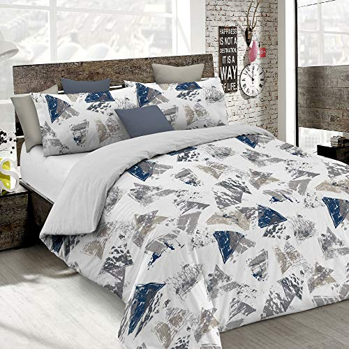 Italian Bed Linen Duvet Cover Fashion, Urban Blu, Double