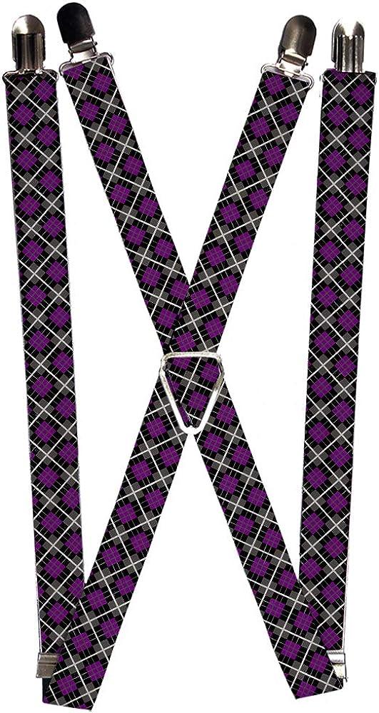 Buckle-Down Suspender - Argyle Plaid