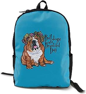 Kimi-Shop Los Mochilas Escolares Bulldogs Son Hermosas 3D Mochila Deportiva para Adultos al Aire Libre