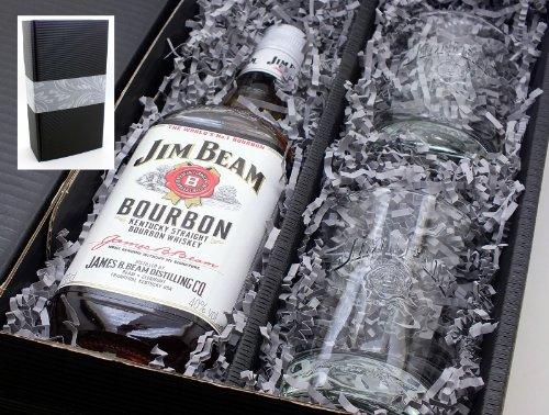 Jim Beam 40% 0,7l Set + 2 Tumbler Gläser im Geschenkkarton