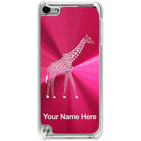 Case Compatible with iPod Touch 5th/6th/7th Generation, Giraffe, Personalized Engraving Included (Red)
