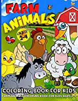 Farm Animals Coloring Book For Toddlers