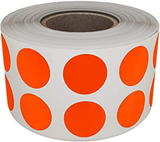 Royal Green Round dot Label 13mm 0.50 inch - Dots in a roll for Inventory Stickers Labels in Orange - 1080 Pack