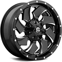 FUEL Cleaver NBL-Gloss BLK MIL Wheel with Painted (18 x 9. inches /8 x 165 mm, -12 mm Offset)