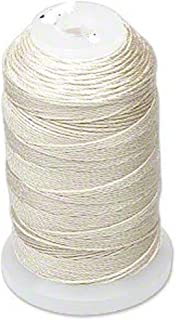 Simply Silk Beading Thread Cord Size E Ecru 0.0128 Inch 0.325mm Spool 200 Yards for Stringing Weaving Knotting